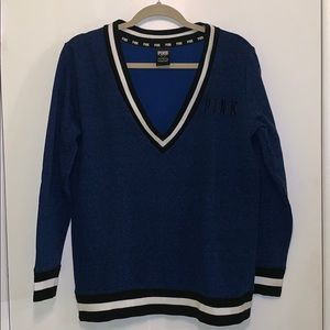 VS Pink Navy and Black Sweater